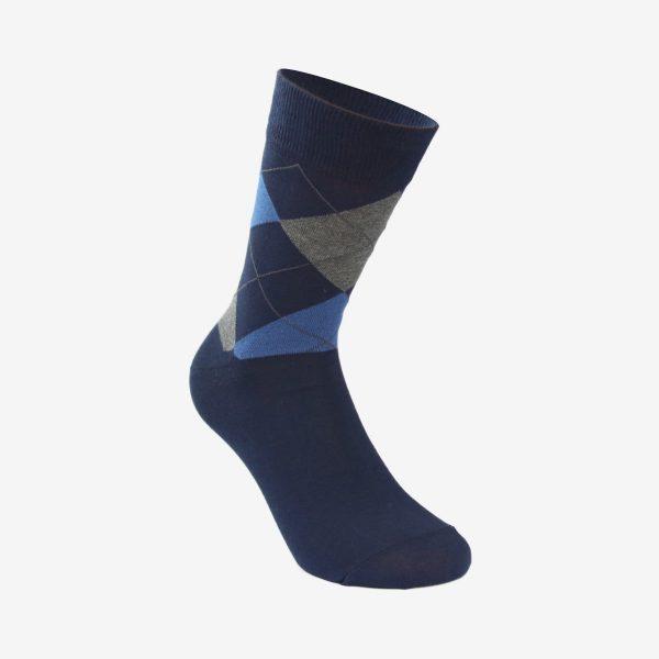 Oliver Jacquard muška čarapa tamno plava