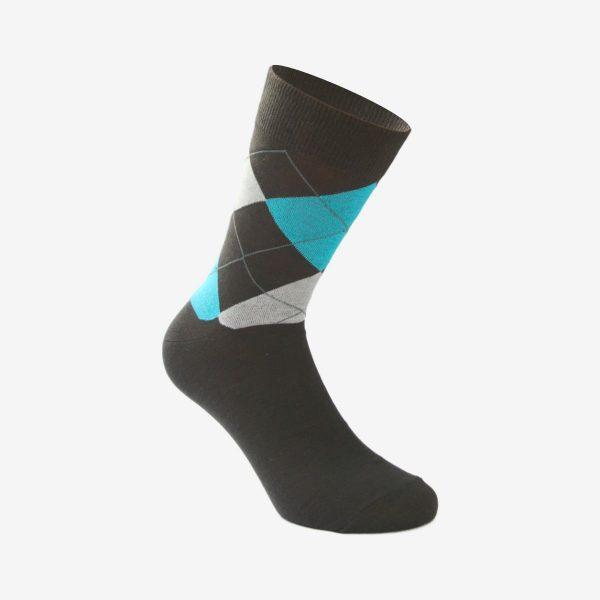 Oliver Jacquard muška čarapa tamno siva