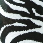 Nina zebra ženska čarapa uzorak